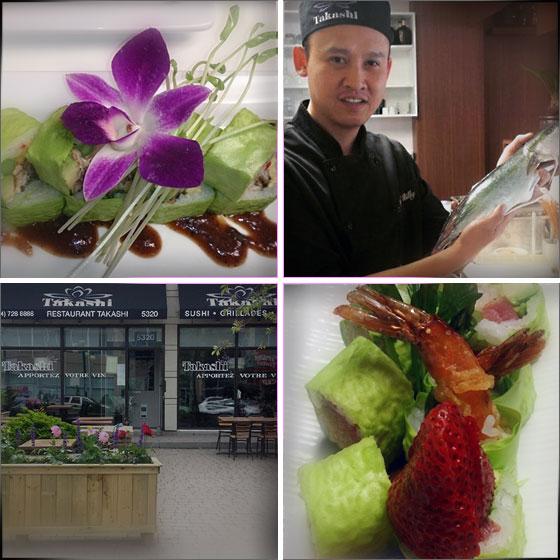Restaurant Takashi Montréal sushis grill et tapas